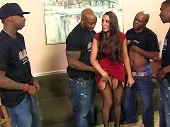 Steamy Kaylynn Gets Gangbanged By A Bunch Of Black Guys