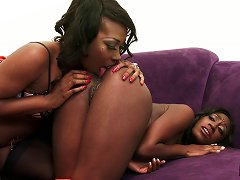 Tasty Black Hotties Lick Ass And Cunt Before Fucking Toys