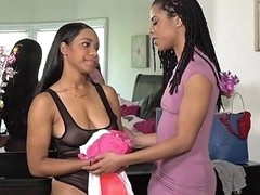 Blackvalleygirls Ebony Lesbians Rubbing Pussies And