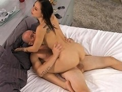 Tanned Brunette Stunner Received Experience Of Anal Sex